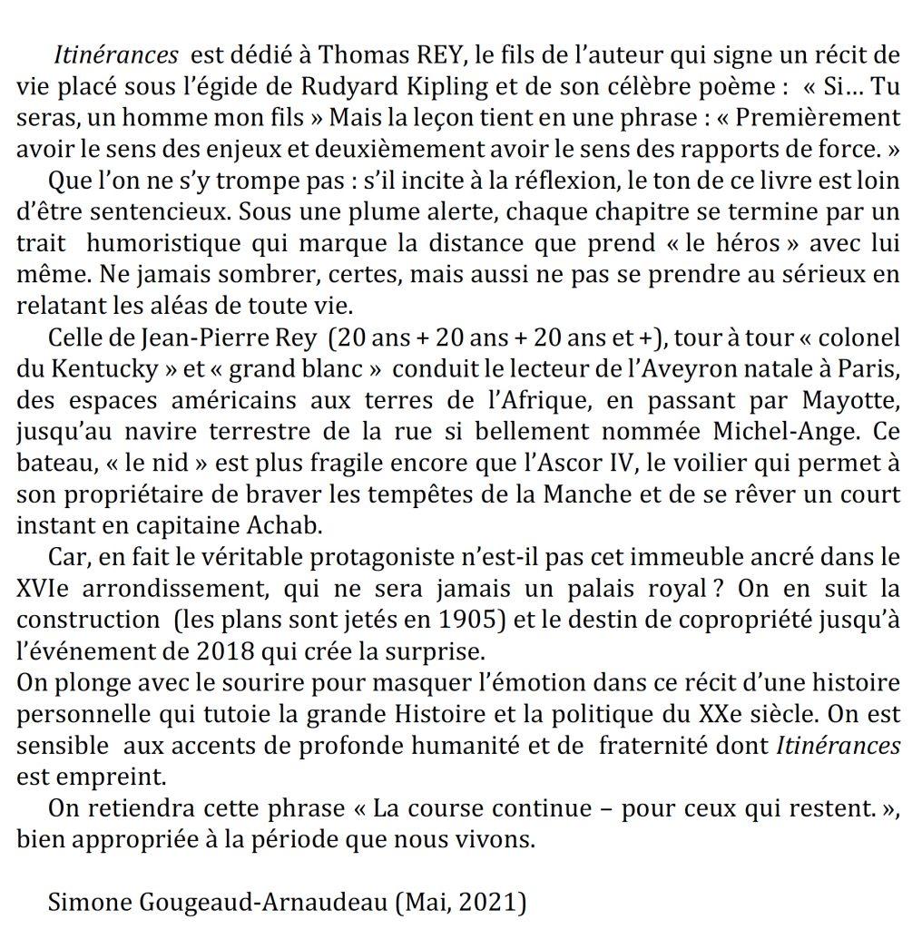 Itinérances, Jean-Pierre Rey, Editions Glyphe, Simone Gougeaud Arnaudeau