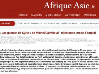 Les Guerres de Syrie, Michel Raimbaud, Editions Glyphe